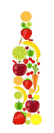 fresh fruits vector illustration illustration