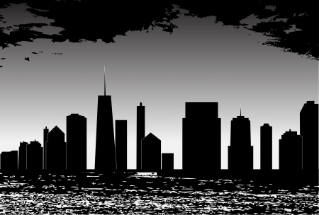 vector illustration of cities silhouette Stock Vector - 17248786