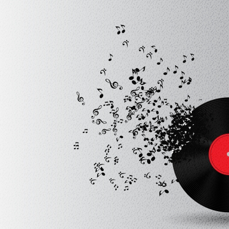 abstract music: Abstracte muziek achtergrond vector illustratie voor uw ontwerp