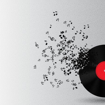 musica electronica: Fondo abstracto de la m�sica ilustraci�n vectorial para su dise�o Foto de archivo