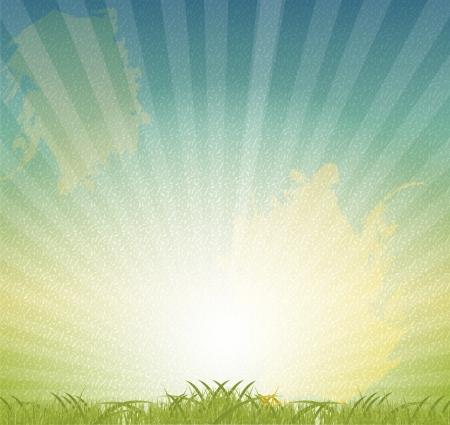 Natural retro grunge floral background vector illustration Stock Vector - 17285803