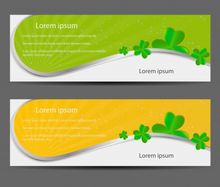 Saint Patrick s day banner vector illustration Stock Vector - 17285764