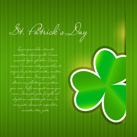Saint Patrick s day background vector illustration Stock Illustration - 17285754