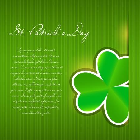 saint patrick��s day: Saint Patrick s day background vector illustration Stock Photo