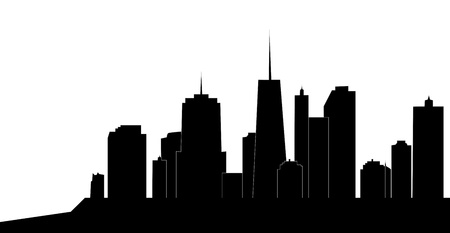 vector illustration of cities silhouette Stock Vector - 17285637