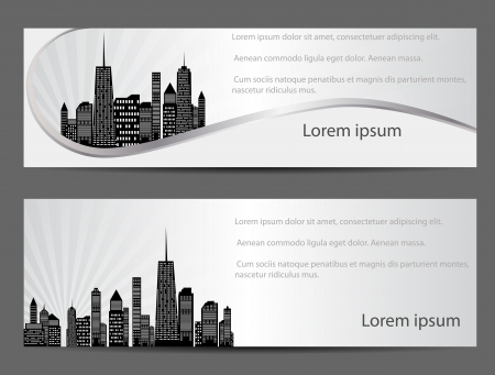 chicago skyline: vector illustration of cities silhouette