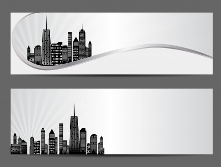 vector illustration of cities silhouette Stock Vector - 17285812