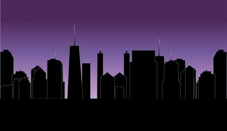 vector illustration of cities silhouette Stock Vector - 17285635