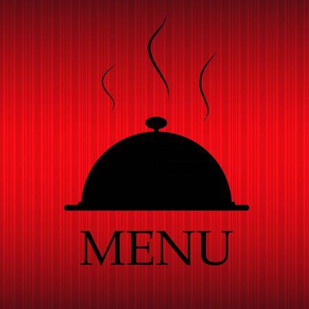 Restaurant menu template in grunge retro style illustration Stock Vector - 17288446