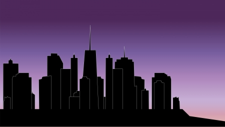 vector illustration of cities silhouette Stock Vector - 17285643
