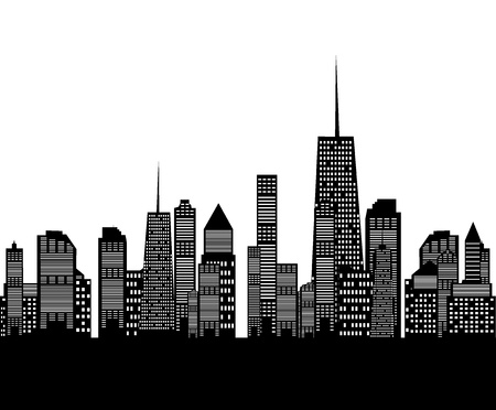 illustration of cities silhouette Vector