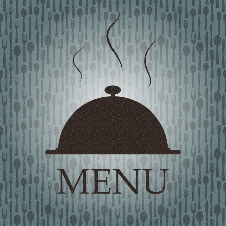 illustrati: Restaurant menu template in grunge retro style vector illustrati