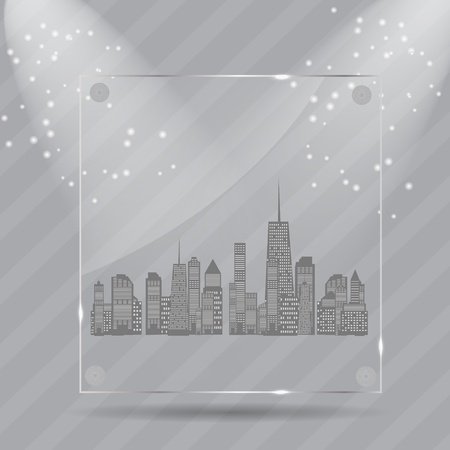 Realistic glass frames  Vector illustration Vector
