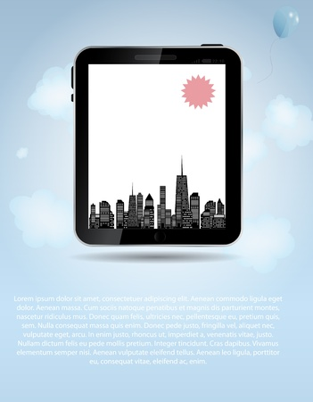Vector illustration of cities silhouette  EPS 10  Vector