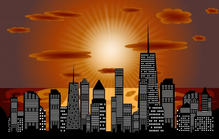 Vector illustration of cities silhouette  EPS 10 Stock Vector - 17350870