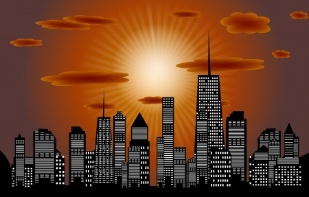Vector illustration of cities silhouette  EPS 10 Stock Vector - 17350866