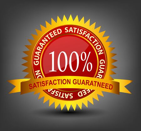 Fatisfaction guaranteed label vector illustration Vector