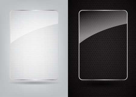 carbon fiber: Vidrio marco de ilustración vectorial abstracto de metal de fondo
