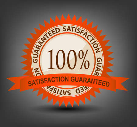 Satisfaction guaranteed label vector illustration Vector