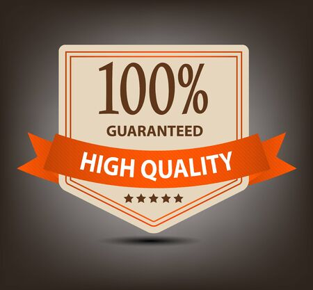 Satisfaction guaranteed label vector illustration Stock Vector - 17472280