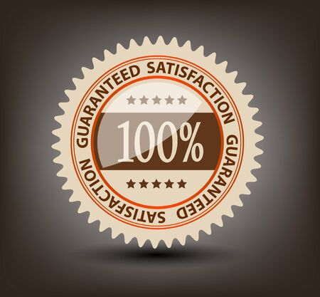 Satisfaction guaranteed label vector illustration Stock Vector - 17472276