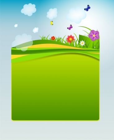 Flower and grass banner Stock Vector - 17472286