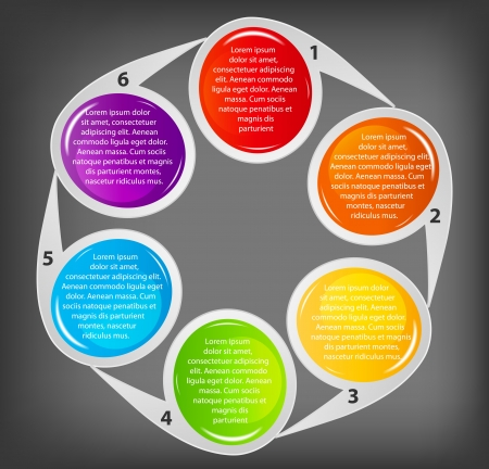 Concept of colorful circular banners  for different business des