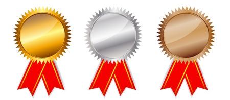 Golden, silver  bronze awards  Vector illustration  Vector