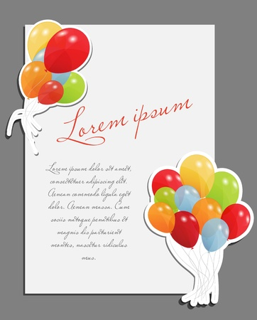 Celebrating blank page with balloons vector illustration Stock Vector - 17707635