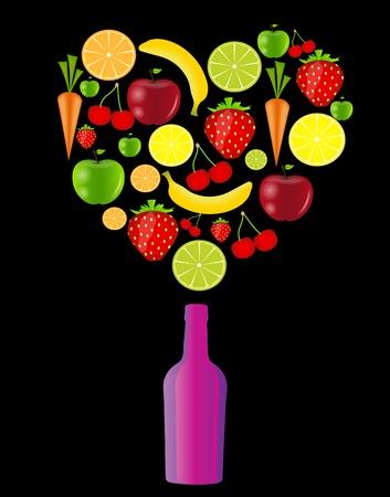 fresh fruits vector illustration Stock Vector - 17707636