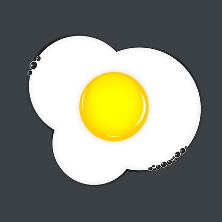 Fried eggs vector illustration Stock Vector - 17707641