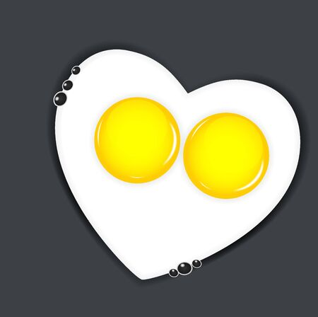 Fried eggs vector illustration Stock Illustration - 17707637
