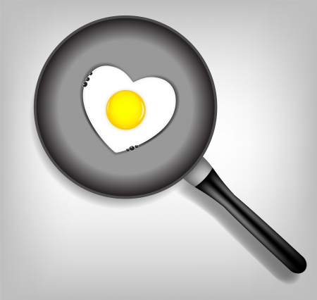 Fried eggs vector illustration Vector