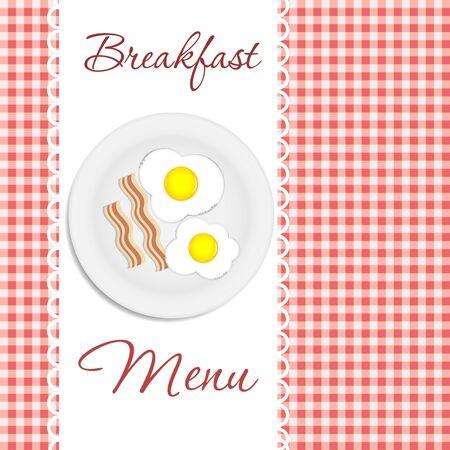 Breakfast menu  vector illustration Stock Vector - 17707649