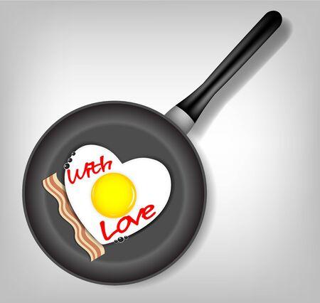 Fried eggs vector illustration Stock Vector - 17707645
