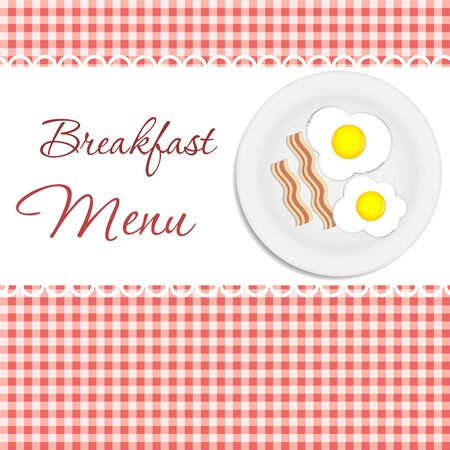 Breakfast menu  vector illustration illustration