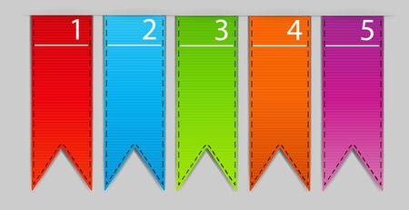 Stylish bookmarks  Vector Stock Vector - 17707689