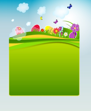 Vector illustration background with easter eggs Stock Vector - 17707733