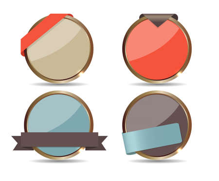 Set of Sale Tags  Vector illustration Vector