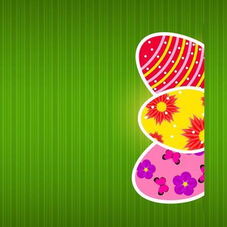 Vector  Paper card with  easter eggs Vector