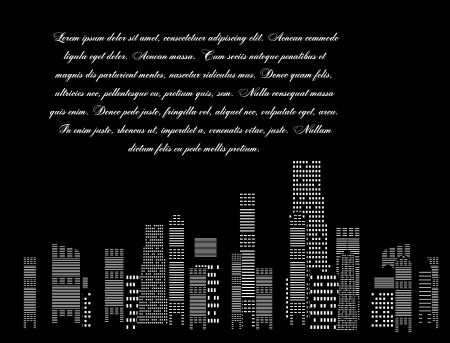 vector illustration of cities silhouette Stock Vector - 17947017