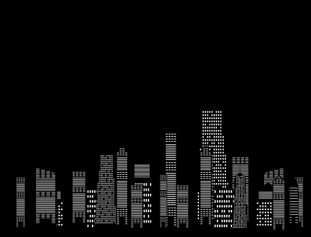 vector illustration of cities silhouette Vector