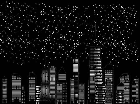 vector illustration of cities silhouette Stock Vector - 17947004