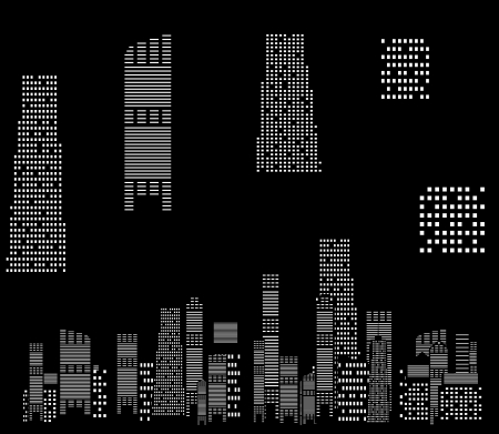 vector illustration of cities silhouette Stock Vector - 17947006