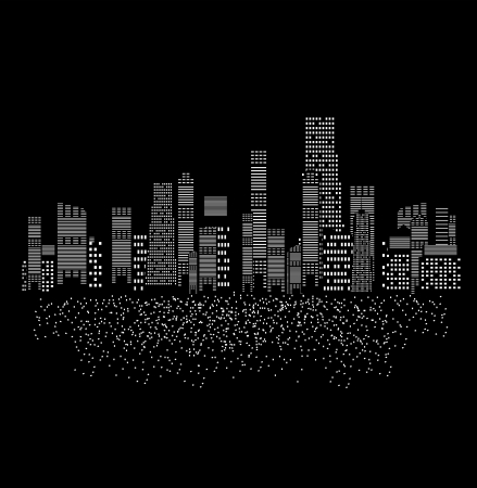 vector illustration of cities silhouette Stock Vector - 17947007