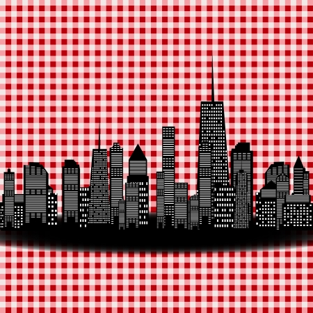 illustration of cities silhouette  illustration