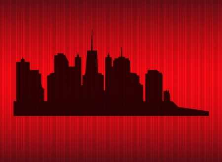 illustration of cities silhouette Stock Illustration - 18228162
