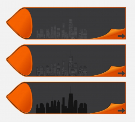 illustration of cities silhouette Stock Illustration - 18228135