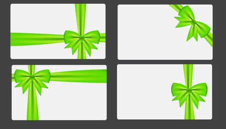 blank gift tag: Gift card with bow illustration