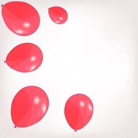 set of colored balloons,  illustration  Vector